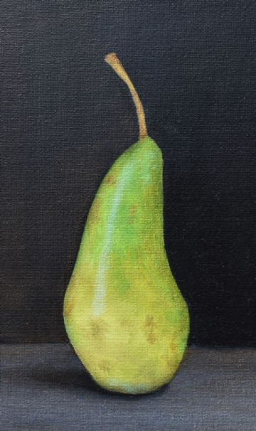 Debbie Collins Original Oil Painting Still Life Of A Green Pear